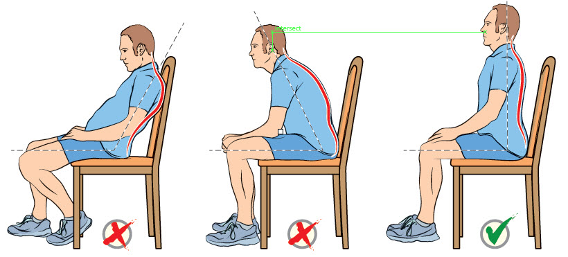 how to sit up properly